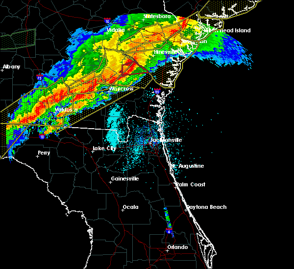 Radar Image for Severe Thunderstorms near Jesup, GA at 4/13/2020 7:31 AM EDT