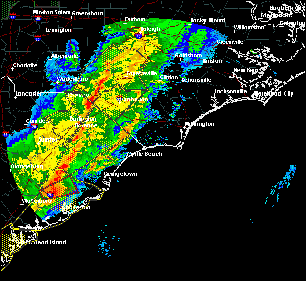 Radar Image for Severe Thunderstorms near Pembroke, NC at 4/13/2020 7:35 AM EDT