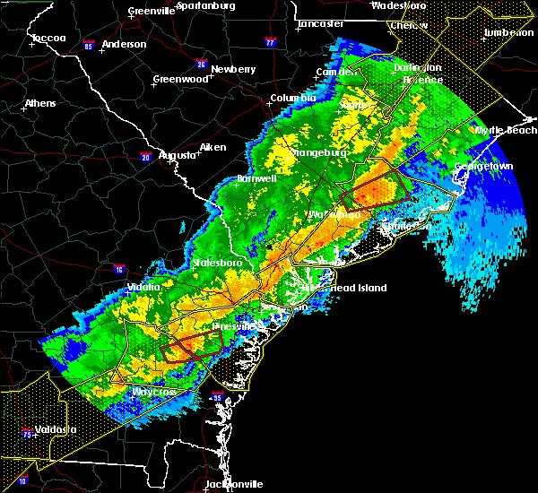 Radar Image for Severe Thunderstorms near Moncks Corner, SC at 4/13/2020 7:39 AM EDT