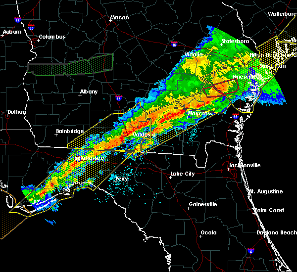 Radar Image for Severe Thunderstorms near Lakeland, GA at 4/13/2020 7:41 AM EDT
