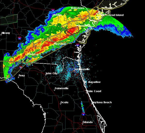 Radar Image for Severe Thunderstorms near Jesup, GA at 4/13/2020 7:42 AM EDT