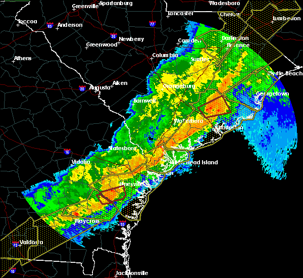 Radar Image for Severe Thunderstorms near Beaufort, SC at 4/13/2020 7:45 AM EDT