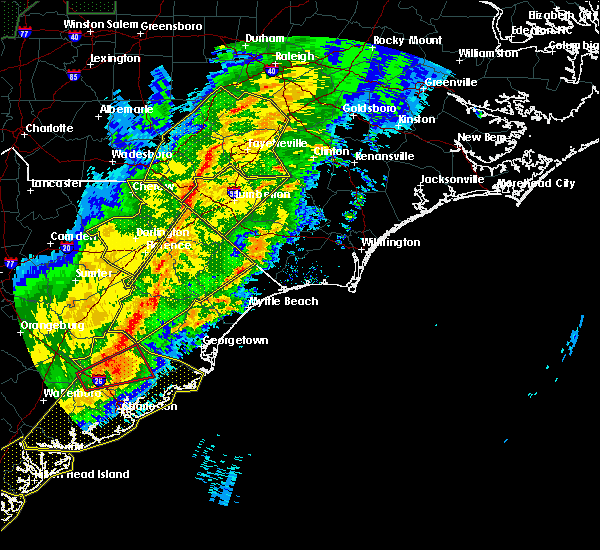 Radar Image for Severe Thunderstorms near Myrtle Beach, SC at 4/13/2020 7:44 AM EDT