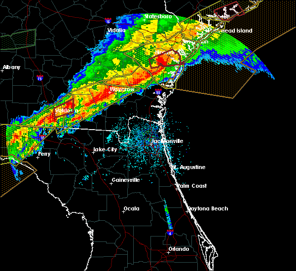 Radar Image for Severe Thunderstorms near Screven, GA at 4/13/2020 8:06 AM EDT