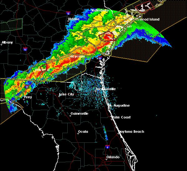 Radar Image for Severe Thunderstorms near St. Simons, GA at 4/13/2020 8:18 AM EDT