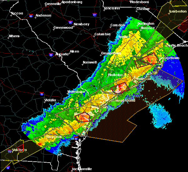 Radar Image for Severe Thunderstorms near Ravenel, SC at 4/13/2020 8:19 AM EDT