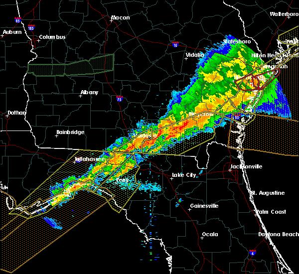 Radar Image for Severe Thunderstorms near Valdosta, GA at 4/13/2020 8:31 AM EDT