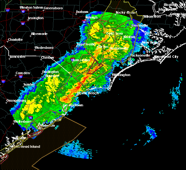 Radar Image for Severe Thunderstorms near Myrtle Beach, SC at 4/13/2020 8:41 AM EDT