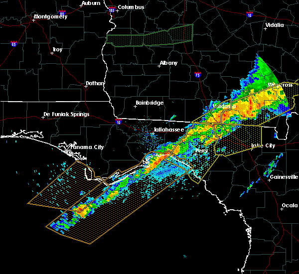 Radar Image for Severe Thunderstorms near Perry, FL at 4/13/2020 8:45 AM EDT
