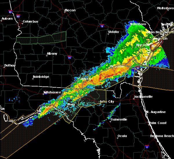 Radar Image for Severe Thunderstorms near Valdosta, GA at 4/13/2020 8:44 AM EDT