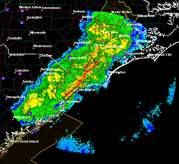 Radar Image for Severe Thunderstorms near Sandyfield, NC at 4/13/2020 8:45 AM EDT