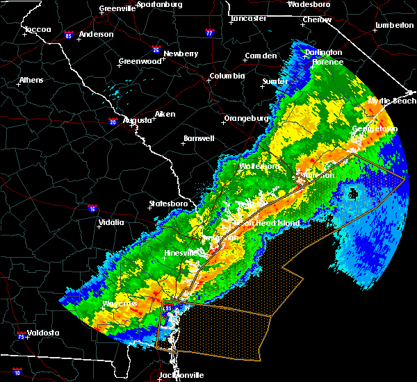 Radar Image for Severe Thunderstorms near Isle of Palms, SC at 4/13/2020 8:45 AM EDT