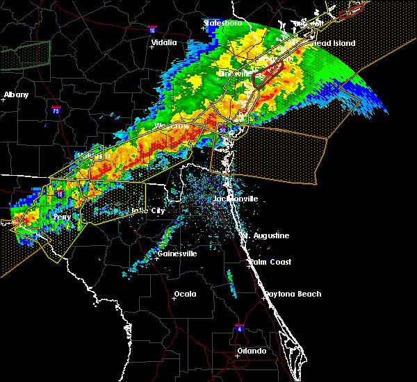 Radar Image for Severe Thunderstorms near St. Simons, GA at 4/13/2020 8:47 AM EDT