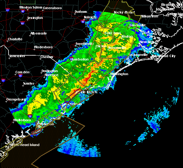 Radar Image for Severe Thunderstorms near Sandyfield, NC at 4/13/2020 8:53 AM EDT