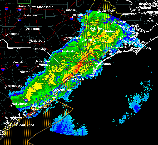 Radar Image for Severe Thunderstorms near Myrtle Beach, SC at 4/13/2020 8:54 AM EDT