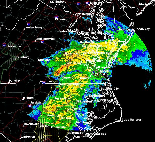 Radar Image for Severe Thunderstorms near Matoaca, VA at 4/13/2020 8:56 AM EDT