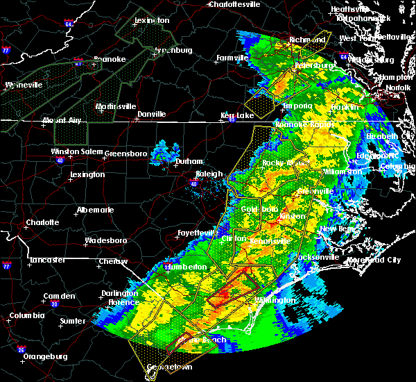 Radar Image for Severe Thunderstorms near Sharpsburg, NC at 4/13/2020 9:06 AM EDT