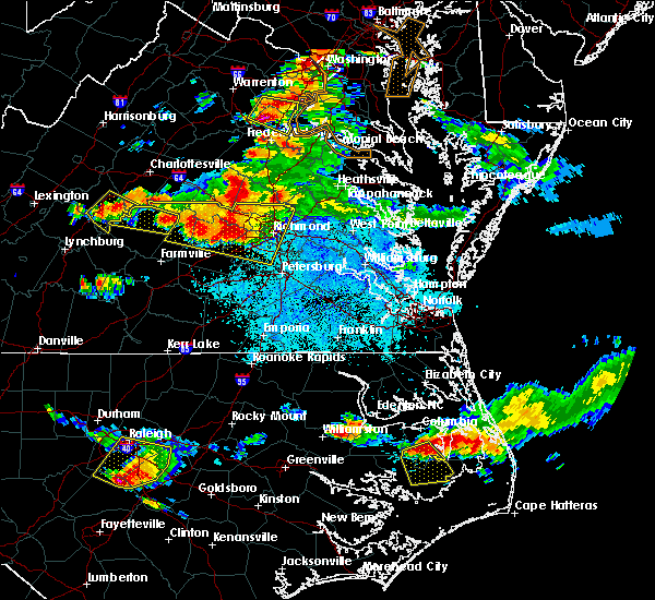 Radar Image for Severe Thunderstorms near Ettrick, VA at 6/25/2015 9:44 PM EDT