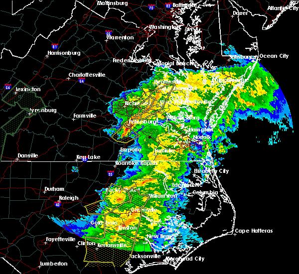 Radar Image for Severe Thunderstorms near Matoaca, VA at 4/13/2020 9:12 AM EDT