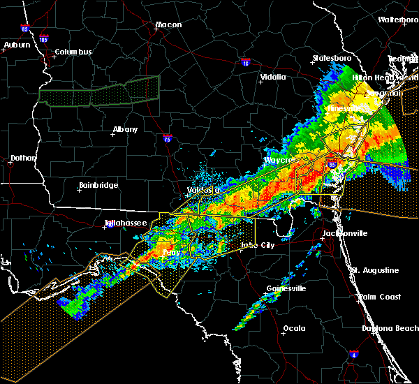 Radar Image for Severe Thunderstorms near Lake Park, GA at 4/13/2020 9:16 AM EDT