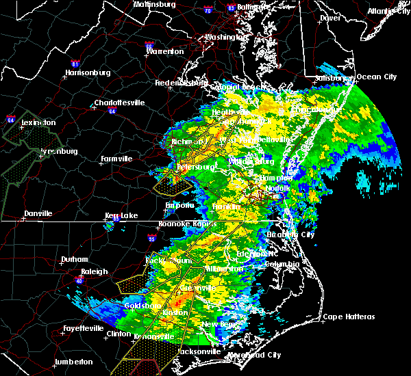 Radar Image for Severe Thunderstorms near Winton, NC at 4/13/2020 9:21 AM EDT