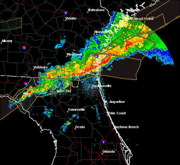 Radar Image for Severe Thunderstorms near Yulee, FL at 4/13/2020 9:45 AM EDT