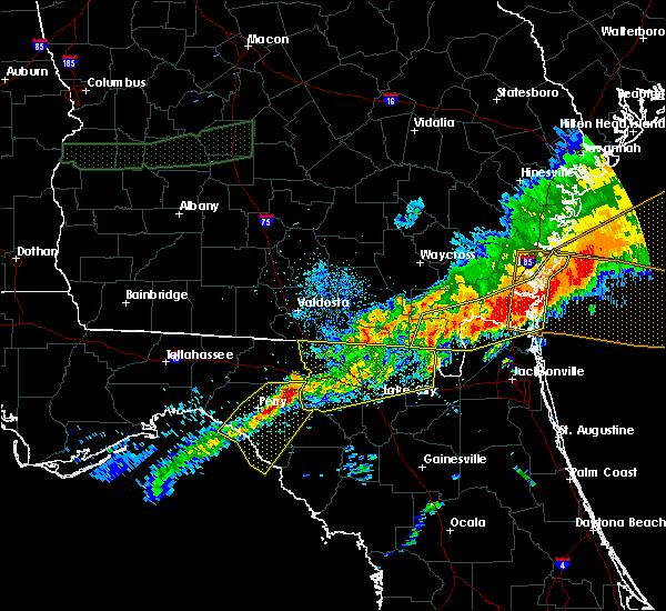 Radar Image for Severe Thunderstorms near Lake City, FL at 4/13/2020 9:49 AM EDT