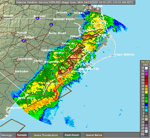 Radar Image for Severe Thunderstorms near Stonewall, NC at 4/13/2020 10:15 AM EDT