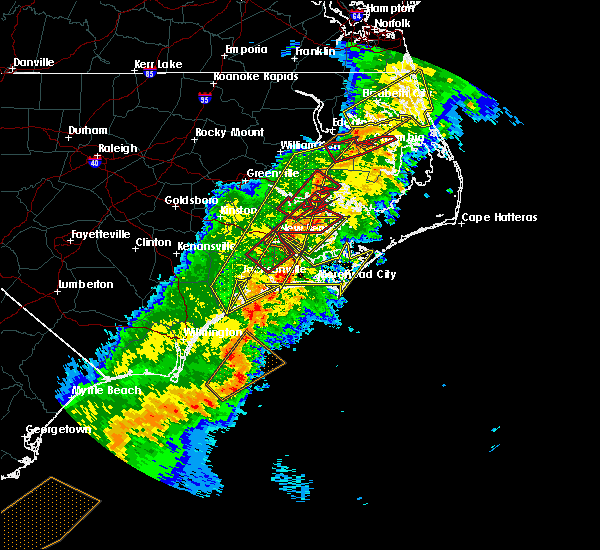 Radar Image for Severe Thunderstorms near Stonewall, NC at 4/13/2020 10:22 AM EDT