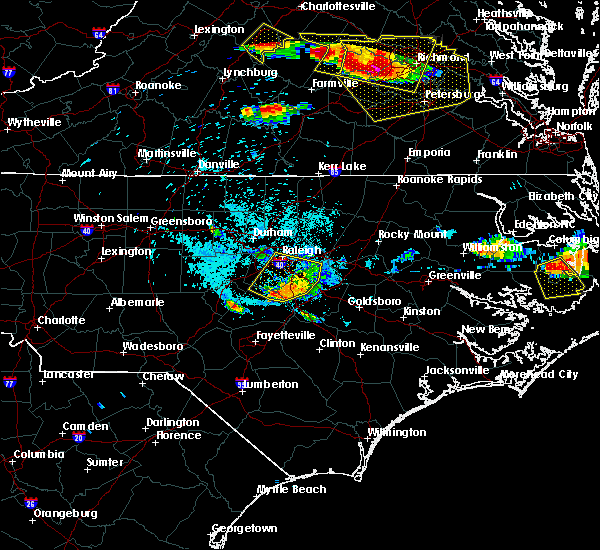 Radar Image for Severe Thunderstorms near Archer Lodge, NC at 6/25/2015 9:51 PM EDT