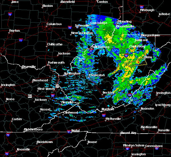 Radar Image for Severe Thunderstorms near Dailey, WV at 4/13/2020 10:40 AM EDT