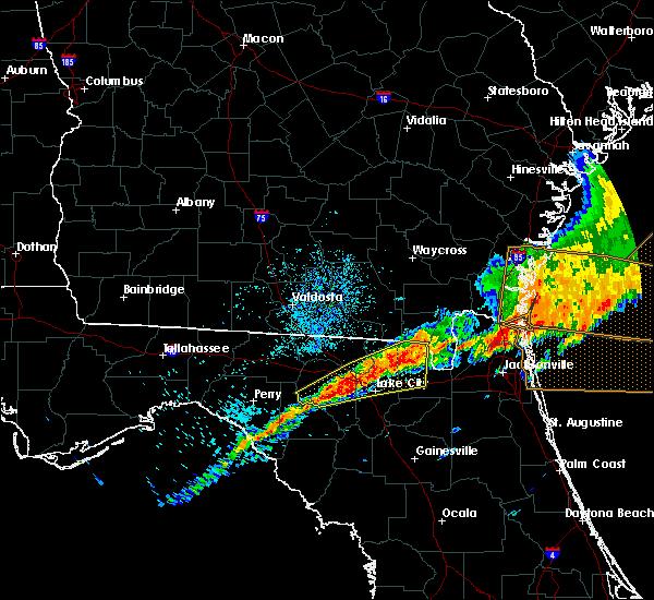 Radar Image for Severe Thunderstorms near Lake City, FL at 4/13/2020 10:51 AM EDT