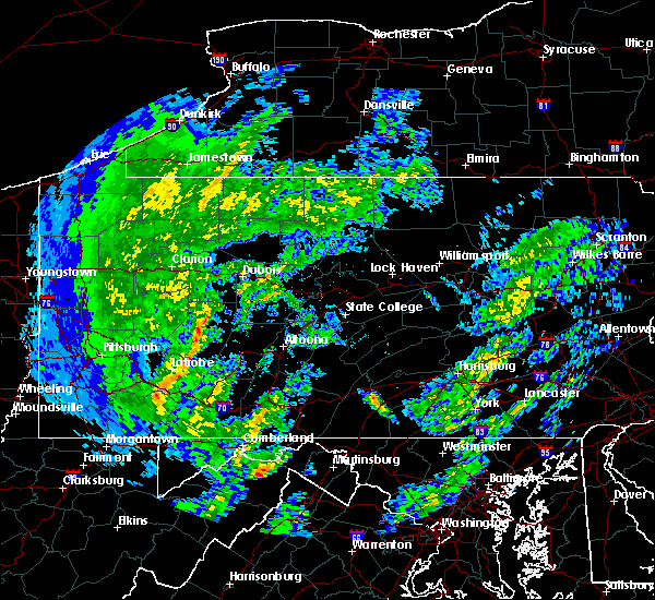 Radar Image for Severe Thunderstorms near Wallaceton, PA at 4/13/2020 11:51 AM EDT