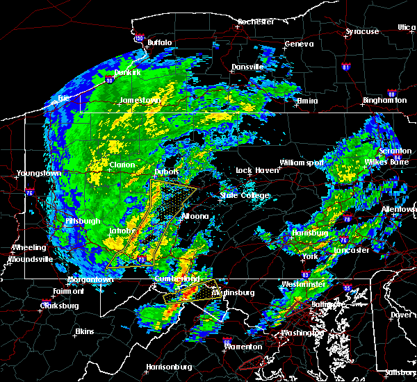 Radar Image for Severe Thunderstorms near Needmore, PA at 4/13/2020 12:19 PM EDT