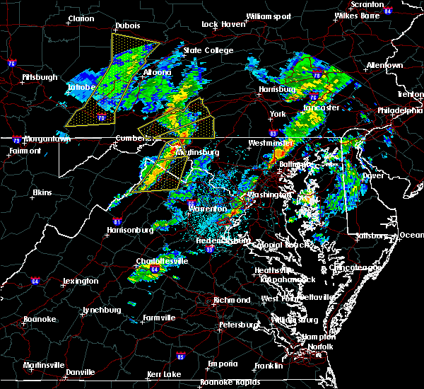 Radar Image for Severe Thunderstorms near Bagtown, MD at 4/13/2020 12:45 PM EDT