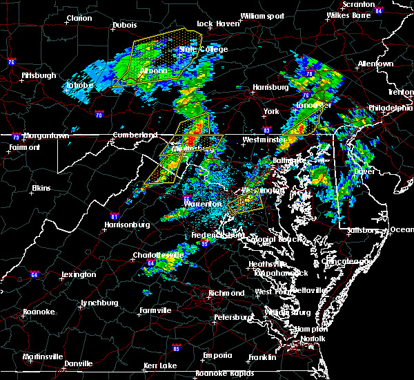 Radar Image for Severe Thunderstorms near Fort Hunt, VA at 4/13/2020 1:09 PM EDT