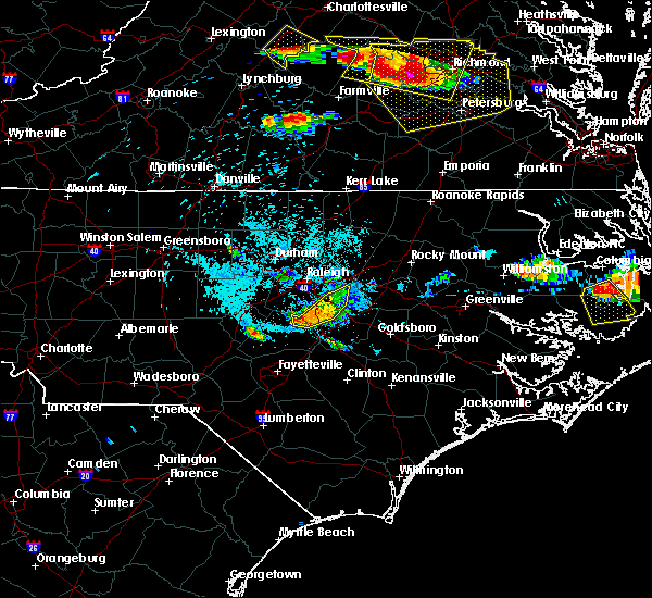 Radar Image for Severe Thunderstorms near Archer Lodge, NC at 6/25/2015 9:53 PM EDT