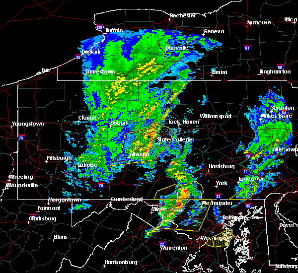 Radar Image for Severe Thunderstorms near Strodes Mills, PA at 4/13/2020 1:28 PM EDT