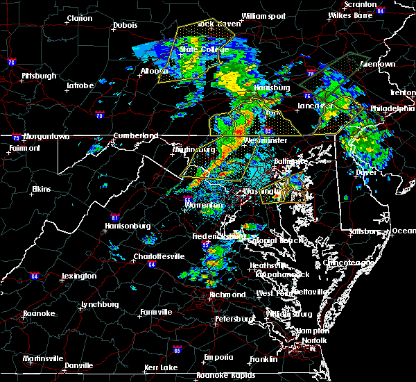 Radar Image for Severe Thunderstorms near Montgomery Village, MD at 4/13/2020 1:51 PM EDT