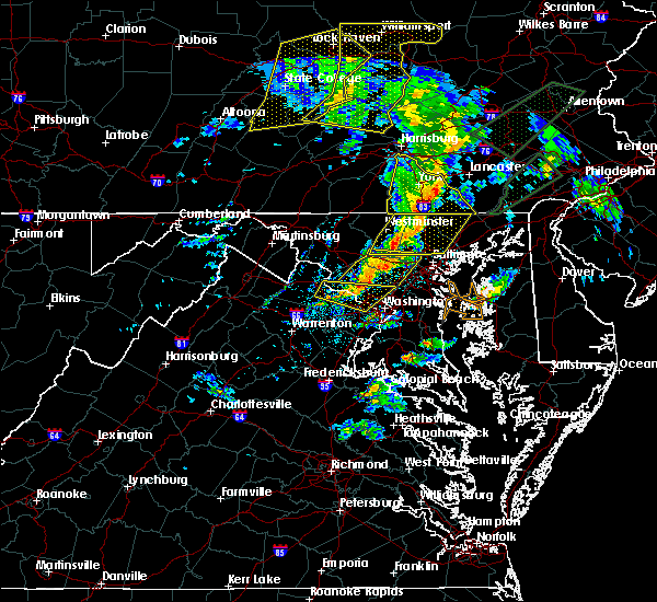 Radar Image for Severe Thunderstorms near Cockeysville, MD at 4/13/2020 2:15 PM EDT
