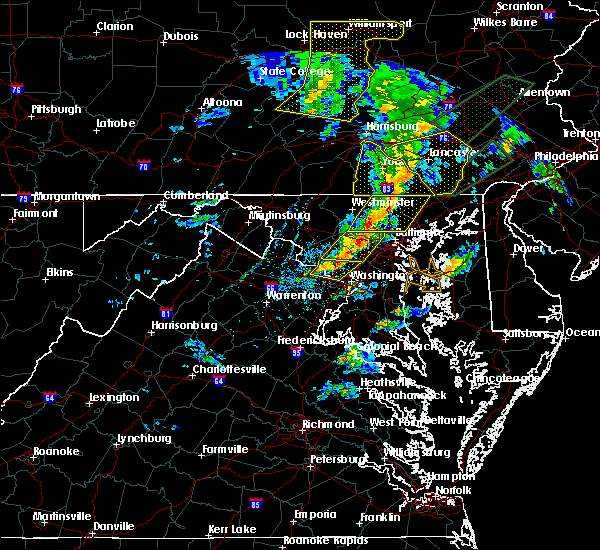 Radar Image for Severe Thunderstorms near Scaggsville, MD at 4/13/2020 2:21 PM EDT