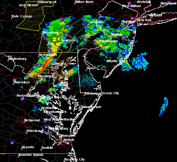 Radar Image for Severe Thunderstorms near Bowleys Quarters, MD at 4/13/2020 2:27 PM EDT
