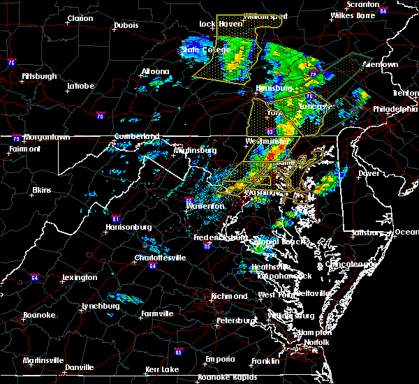Radar Image for Severe Thunderstorms near Cockeysville, MD at 4/13/2020 2:31 PM EDT
