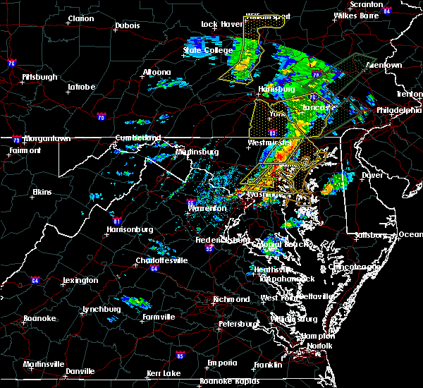 Radar Image for Severe Thunderstorms near Wheaton, MD at 4/13/2020 2:38 PM EDT