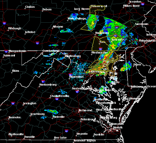 Radar Image for Severe Thunderstorms near Scaggsville, MD at 4/13/2020 2:44 PM EDT