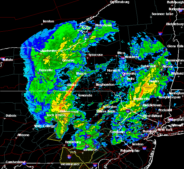 Radar Image for Severe Thunderstorms near Waverly, NY at 4/13/2020 2:44 PM EDT