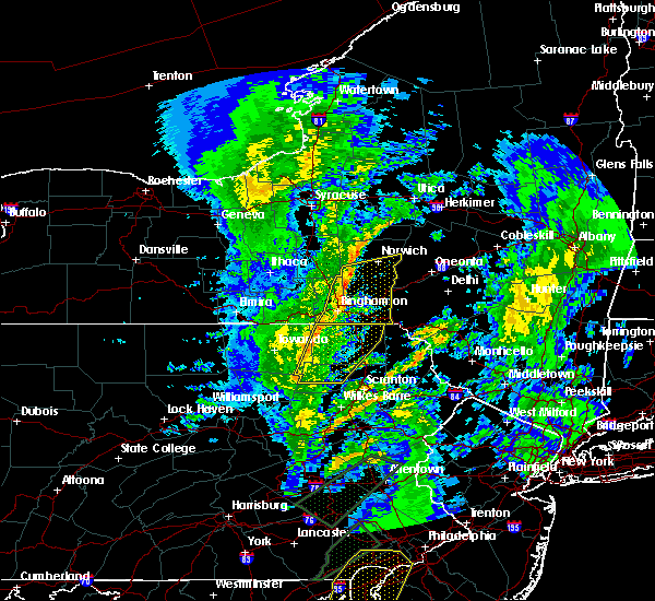 Radar Image for Severe Thunderstorms near Meshoppen, PA at 4/13/2020 3:39 PM EDT