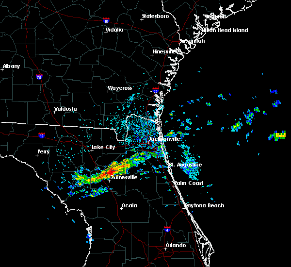 Radar Image for Severe Thunderstorms near Gainesville, FL at 4/13/2020 4:00 PM EDT