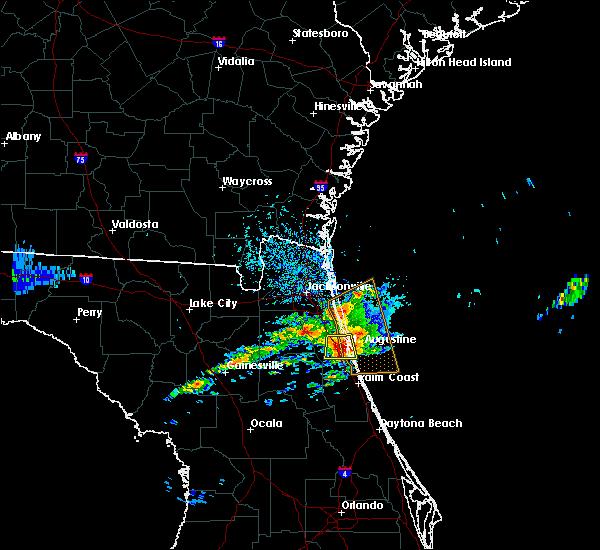 Radar Image for Severe Thunderstorms near St. Augustine, FL at 4/13/2020 5:25 PM EDT