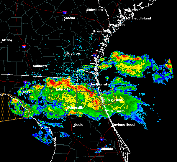 Radar Image for Severe Thunderstorms near World Golf Village, FL at 4/14/2020 9:34 AM EDT